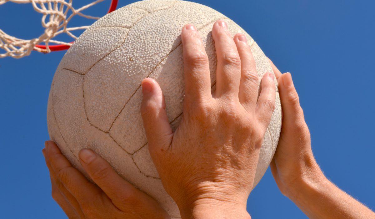 Netball Players playing netball