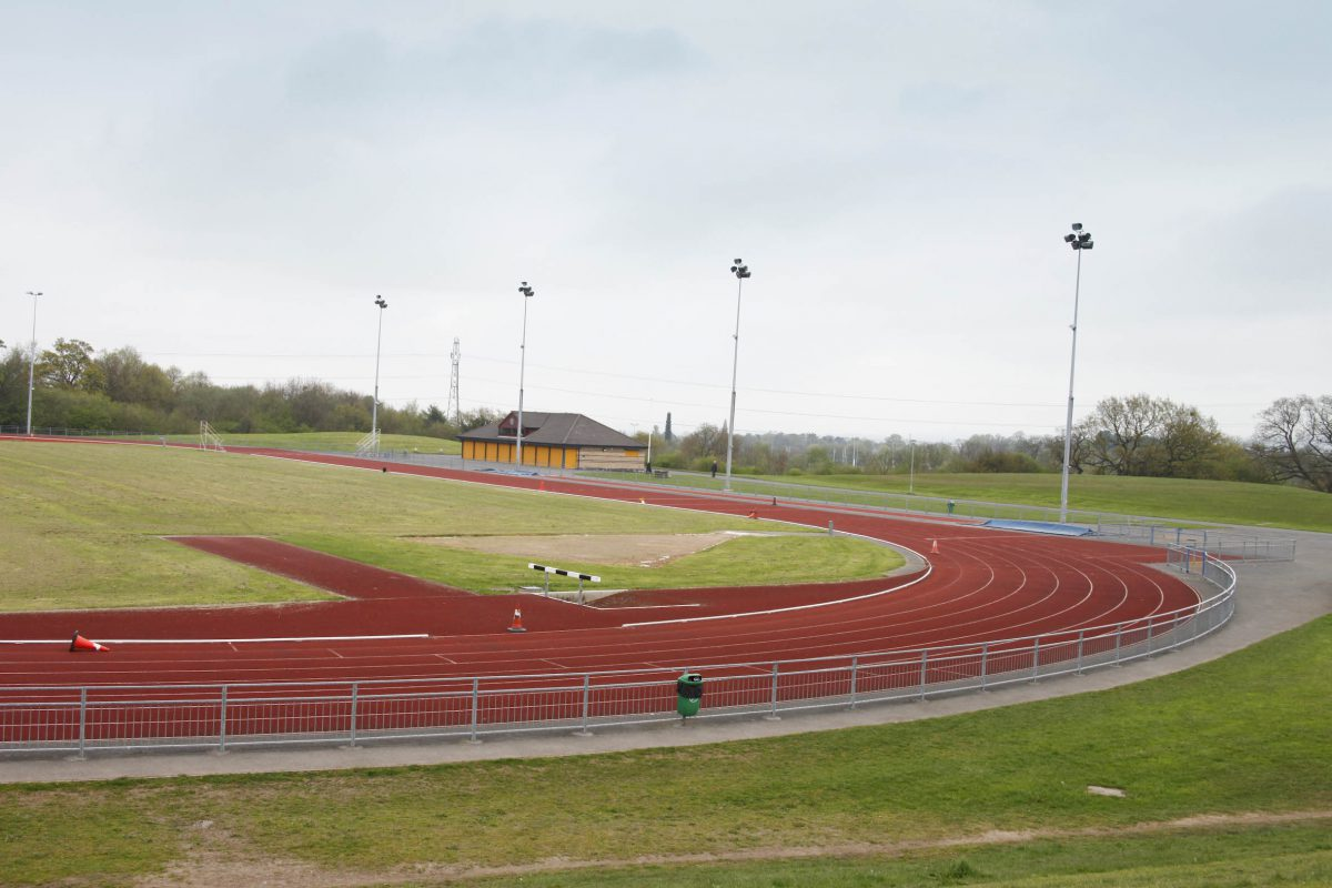 Macclesfield leisure Centre athletics track
