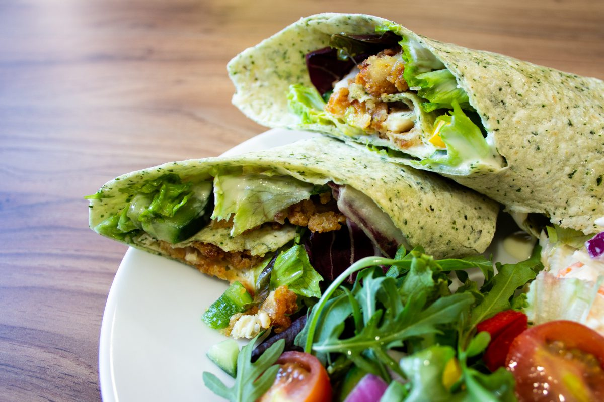 Chicken Wrap Taste for Life Cafe
