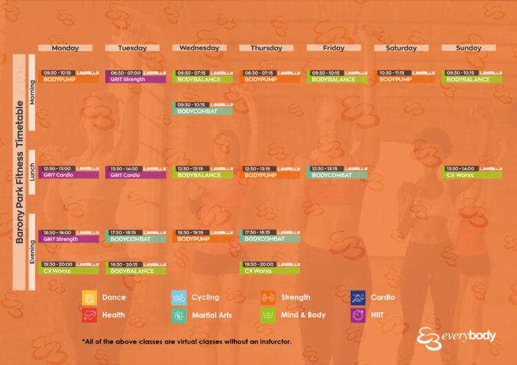 barony timetable