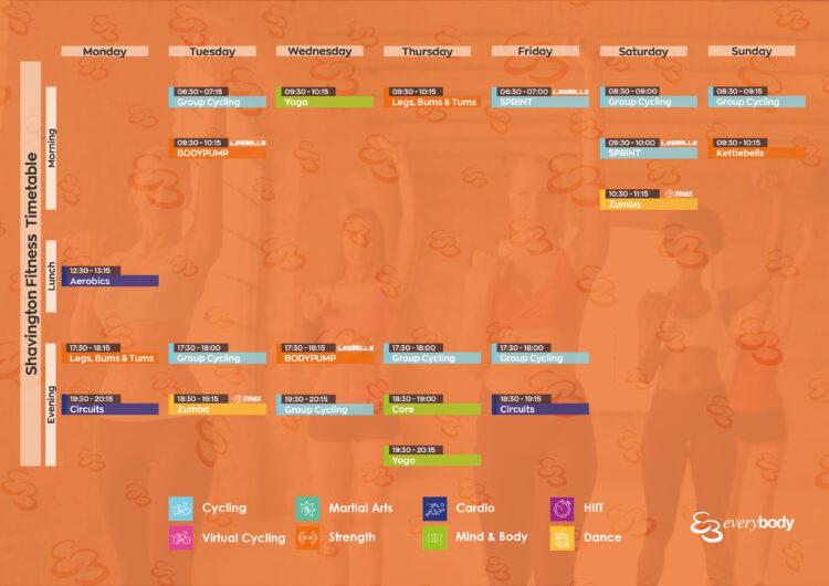 shavington timetable