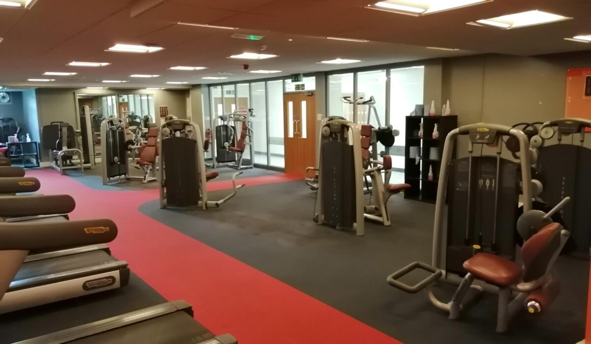 Showing the equipment in the gym at Poynton Leisure Centre