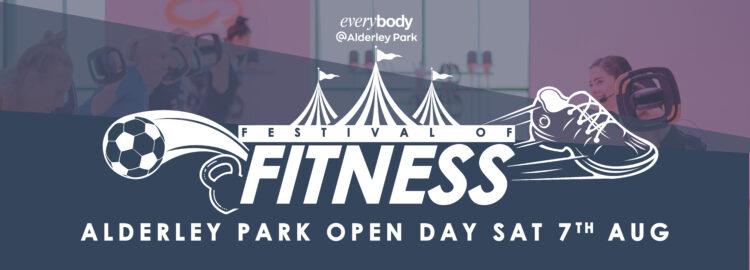 Promotional banner for Alderley Park Leisure Centre Open Day 2021